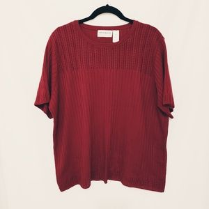 Alfred Dunner Red 2X Sweater